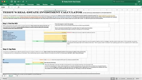 Real Estate Investment Excel Calculator